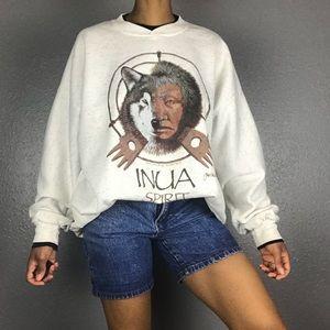 1985 Vintage Inua Native Alaskan Sweatshirt